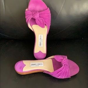Jimmy Choo flip-flop suede sandals size 38